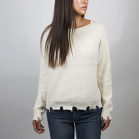 Central Park West Haight Pullover in Winter White