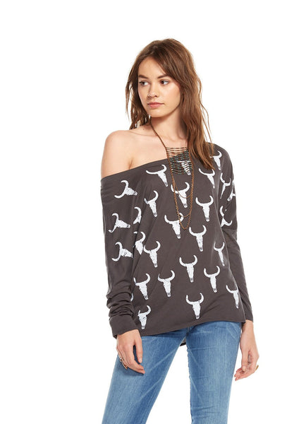 Chaser Cowskull Toss Tee - Estilo Boutique