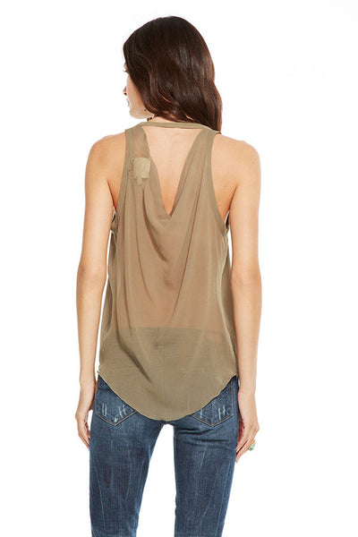 Chaser Silk semi sheer drape- Earth - Estilo Boutique
