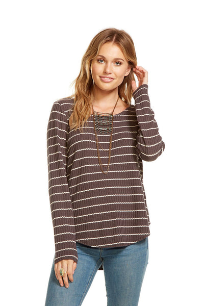 Chaser Thermal Long Sleeve T Back Hi Lo Tee