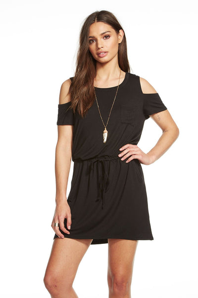 Chaser Cold Shoulder Hi Lo Dress