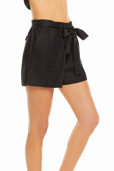 Chaser Beachy Linen Paperbag Shorts