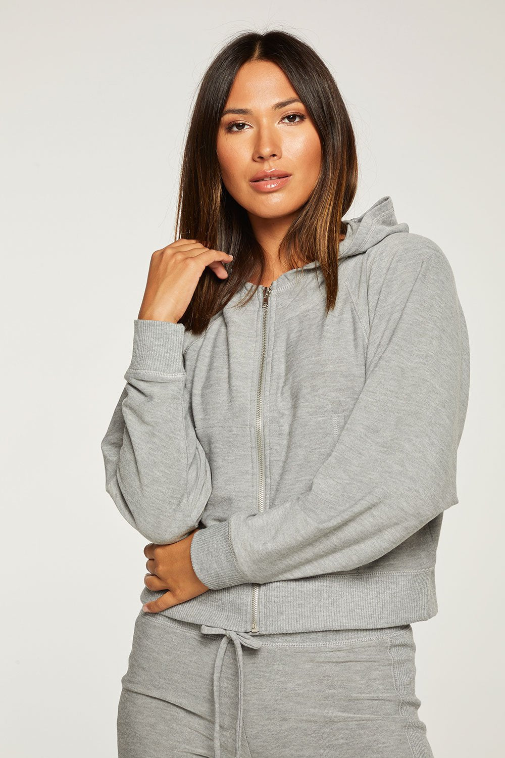 Chaser Cozy Knit Zip Up Hoodie