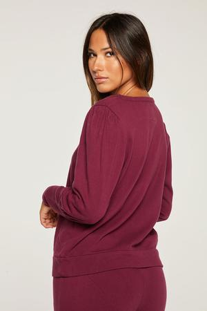 Chaser Cotton Fleece Puff Sleeve Pullover