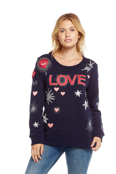 Chaser French Terry Love Sweatshirt