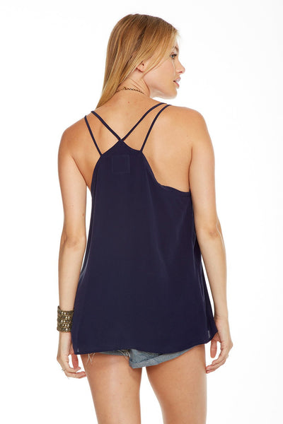 Chaser Strappy Scoop Neck Cami in Pacific