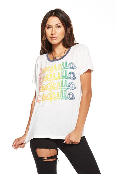 Chaser Tequila Vintage Jersey Tee - Estilo Boutique