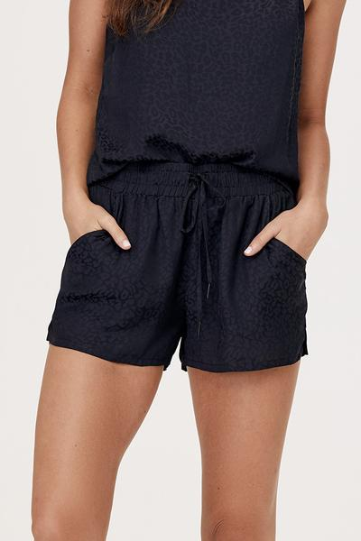 David Lerner Bibi Shorts in Black Leopard