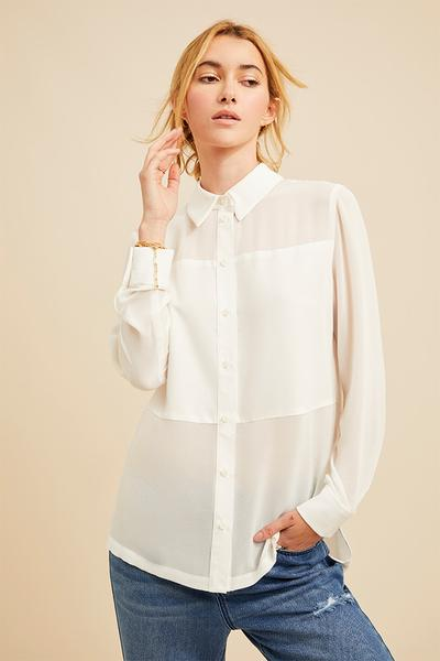 David Lerner Marlo Panelled Top