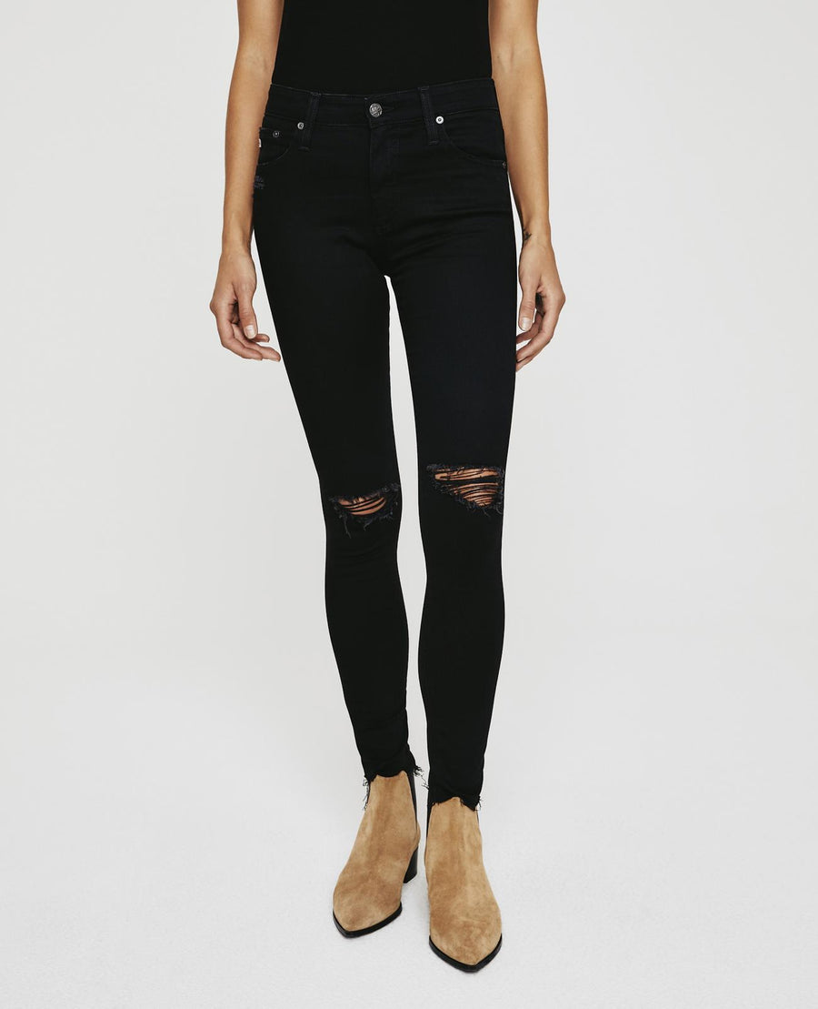 AG Denim The Farrah Skinny Ankle in Black