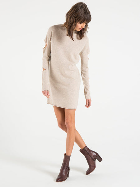 Philanthropy Georgina Mini Sweater Dress in Ecru