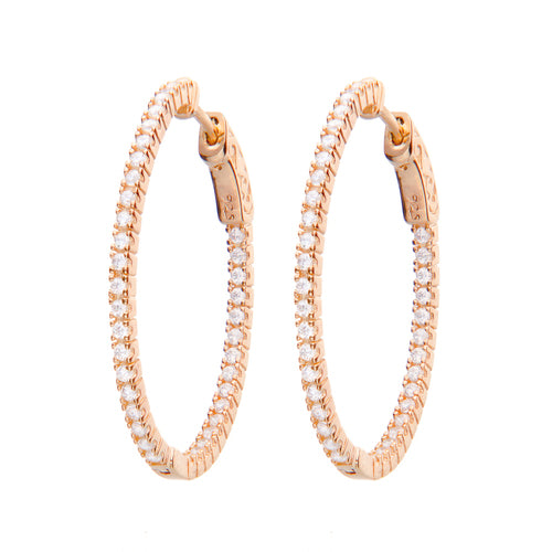 Jen Hansen Small Oval Rose Gold Hoops