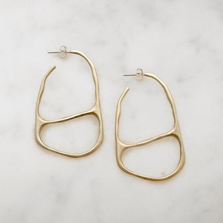 Carolyn Keys Osso Hoop Earring