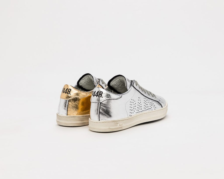 P448 JohnBS Metallic Low Top Sneakers