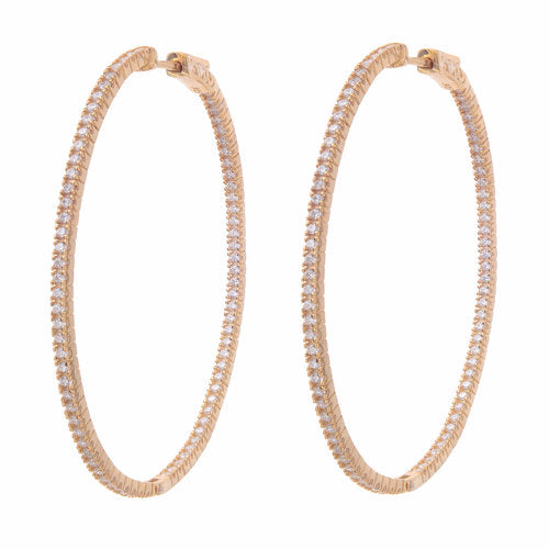 Jen Hansen XL Oval Hoops In Rose Gold