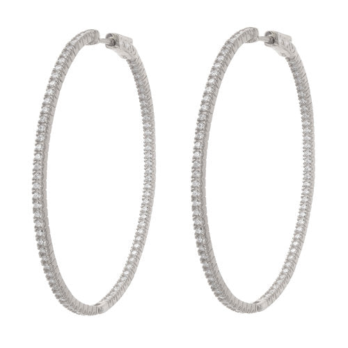 Jen Hansen XL Oval Hoops In Silver