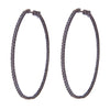 Jen Hansen Large Oval Hoops in Oxidized Silver