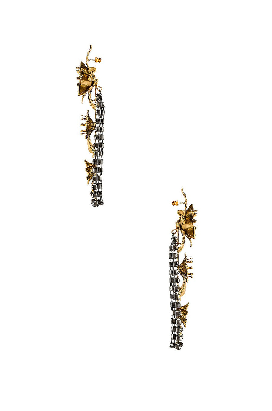 Elizabeth Cole Flower Drop Earrings