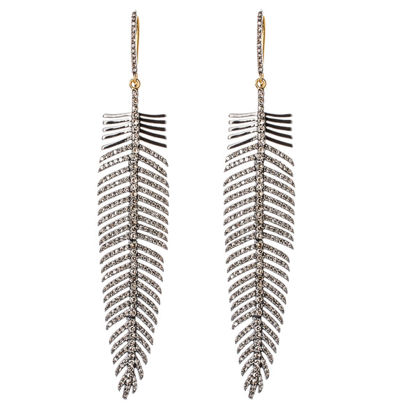 Mizana Diamond Feather Earrings