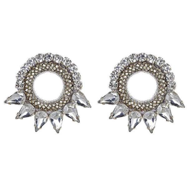 Deepa Gurnani Valencia Earrings in Silver