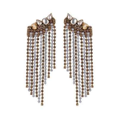 Deepa Gurnani Zadi Earrings in Gold