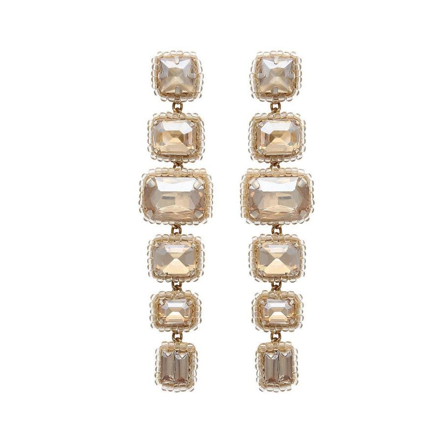 Deepa Gurnani Bree Earrings in Gold