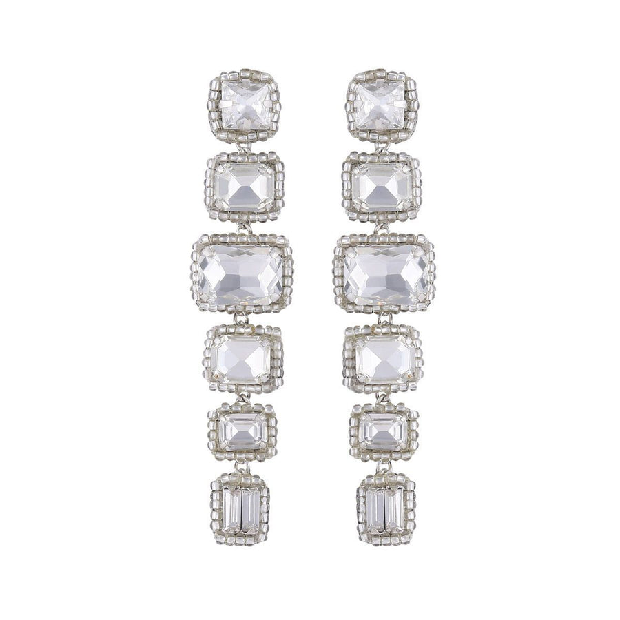 Deepa Gurnani Bree Earrings in Silver