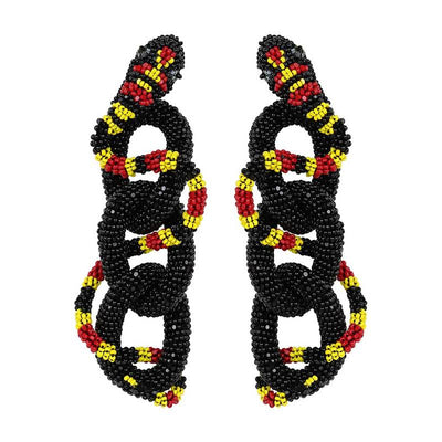 Deepa Gurnani Haze Earrings in Black