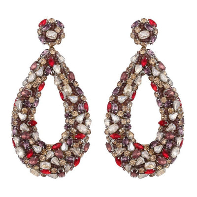 Deepa Gurnani Karen Earring in Gold and Multi Mix