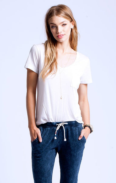 Sol Angeles Torque Tee White - Estilo Boutique