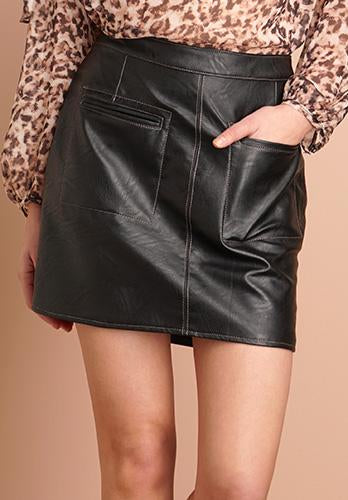 Greylin Ellie Vegan Leather Skirt