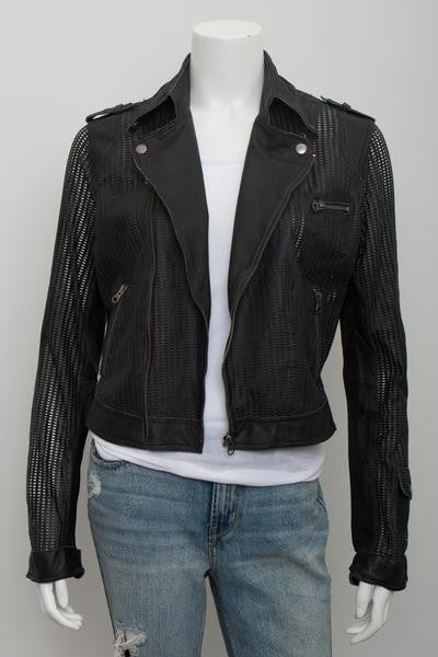 Jakett Josey Marld Perforated Leather Jacket