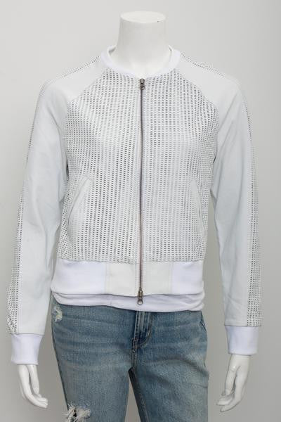 Jakett Mariela Perforated Leather Jacket
