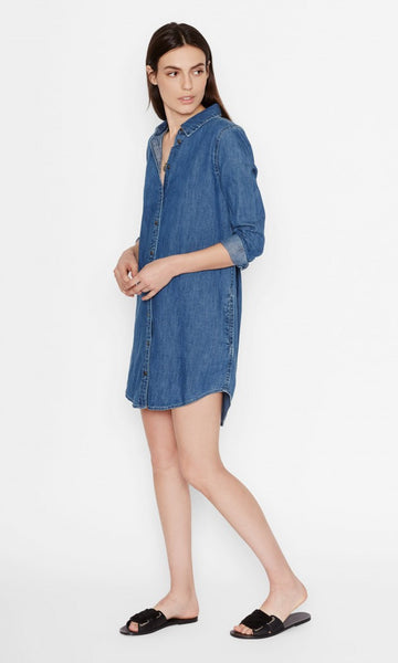 Equipment Carmine Dress in Blueprint Chambray