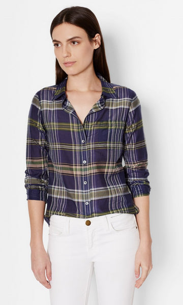 Equipment Brett Silk Shirt - Atlantic Deep Multi