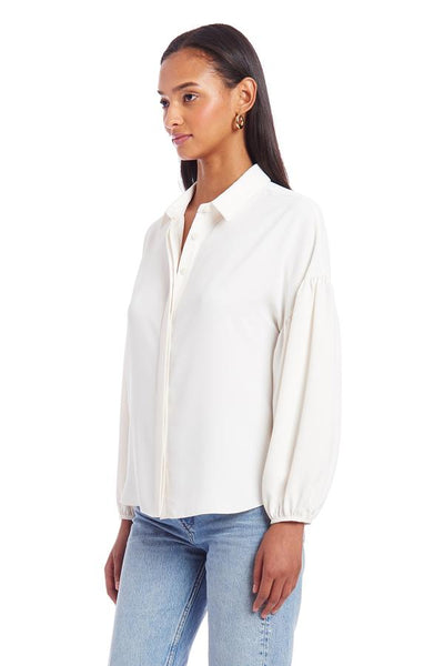 Amanda Uprichard Essence Top in Ivory
