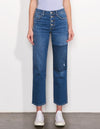 Sundry Patch High Waisted Jeans