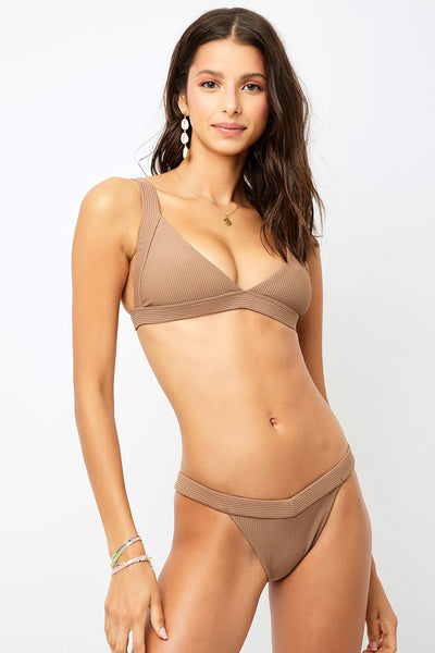 Frankies Grace Bikini Bottoms in Brownie