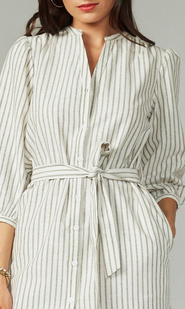 Greylin Olive Stripe Tunic Dress
