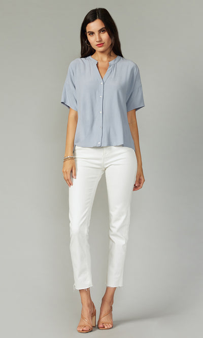 Greylin Hayden Top in Coastal Blue