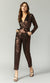 Greylin Elton Lame Knit Jumpsuit