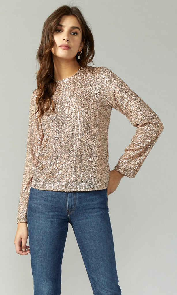 Greylin Mini Sequin Long Sleeve Top