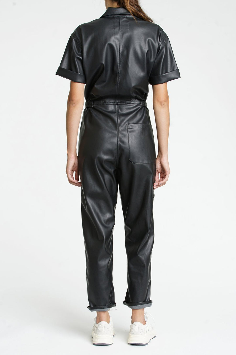 Pistola Vegan Leather Jumpsuit