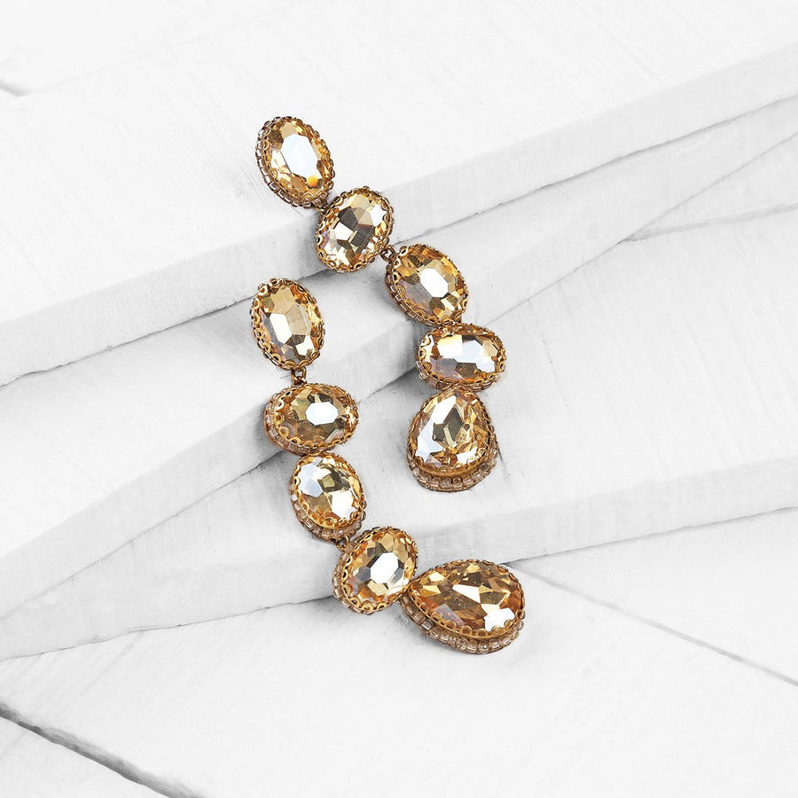 Deepa Gurnani Tyra Earrings in Gold