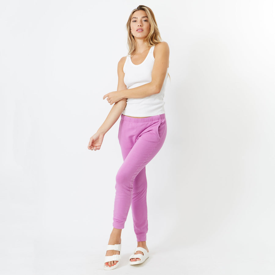 Monrow Supersoft Joggers in Fuschia