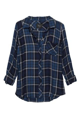 Rails Hunter Shirt - Sapphire/Navy - Estilo Boutique