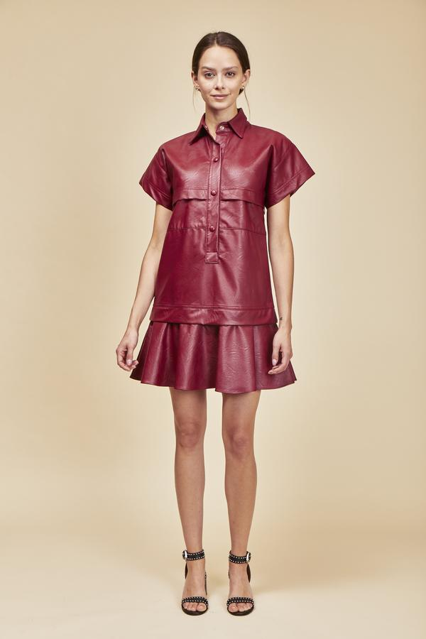 Hunter Bell Addison Dress in Redwood