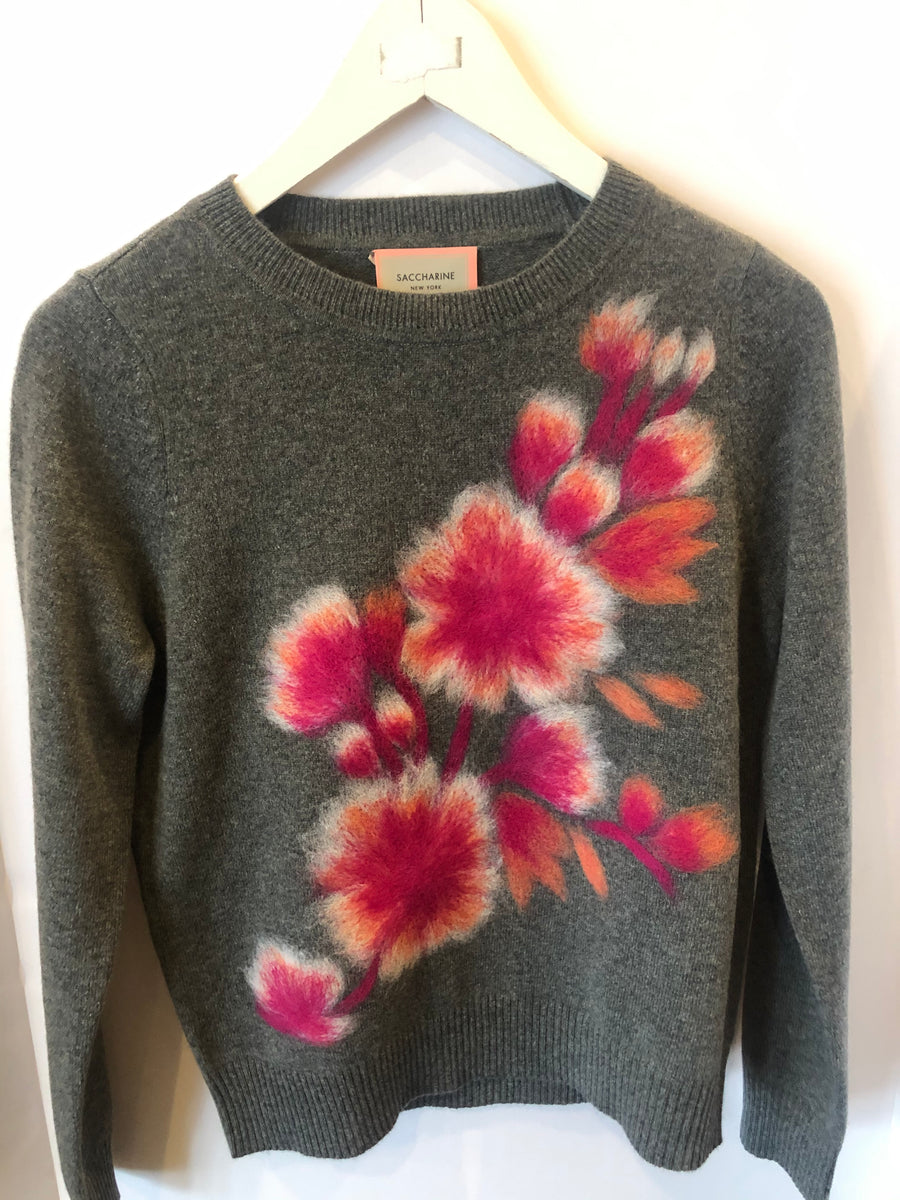 Saccharine Patterned Crew Neck Sweater