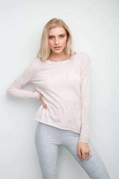 Generation Love Abigail Peace Sweater in Pink