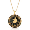 Joy Dravecky Enamel Wolf Necklace